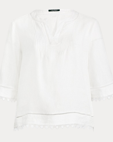 Medallion-Lace-Trim Top