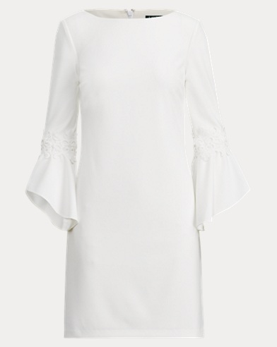Crepe Boatneck Dress