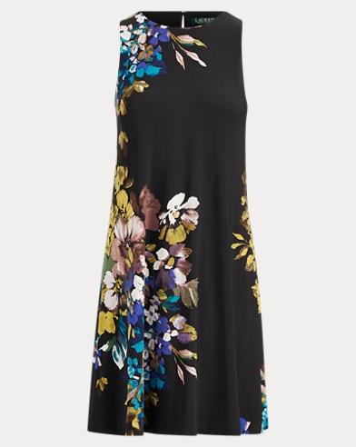 Floral Jersey A-Line Dress