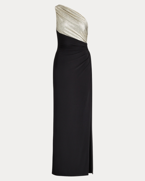 a11ffbce7c99 Jersey One-Shoulder Gown
