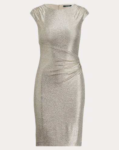 Metallic Stretch-Knit Dress