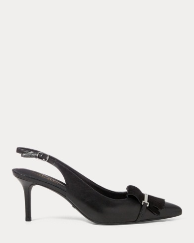 Leather Slingback Heel