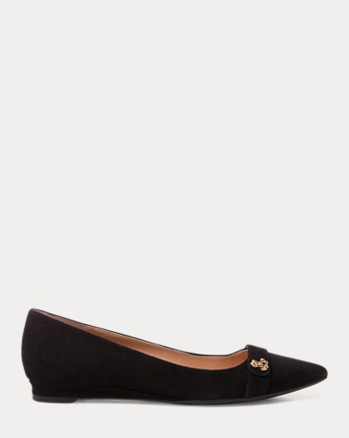Suede Wedge Flat