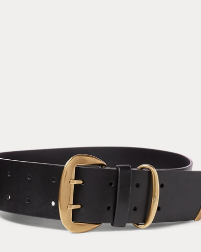 Double-Prong Faux-Leather Belt