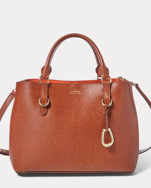 Saffiano Leather Satchel   Ralph Lauren UK 0459e5bd23