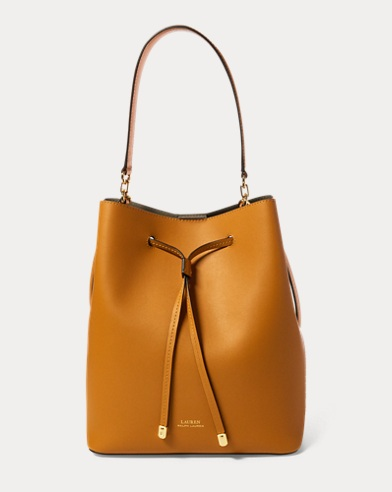 Leather Debby Drawstring Bag. Lauren