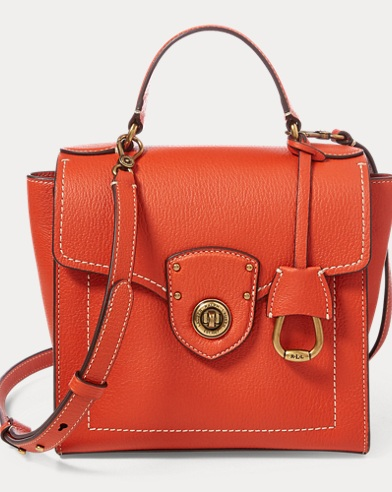 Leather Crossbody Satchel Bag