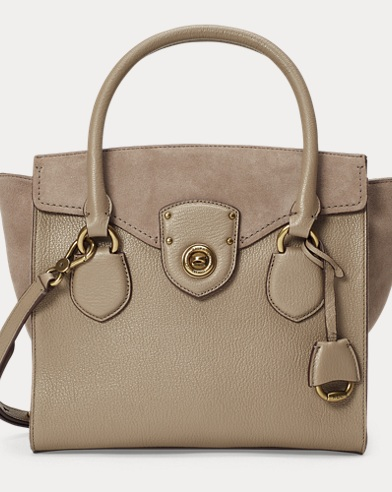 Leather-Suede Satchel