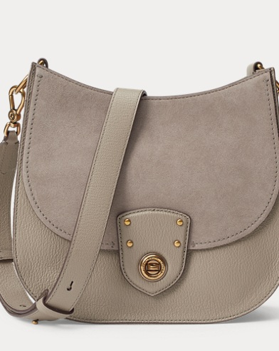Leather-Suede Crossbody Bag