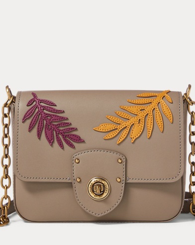 Leather Leaf Crossbody Bag