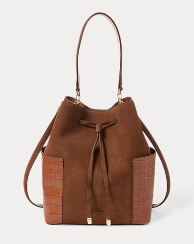 Suede Debby Drawstring Bag