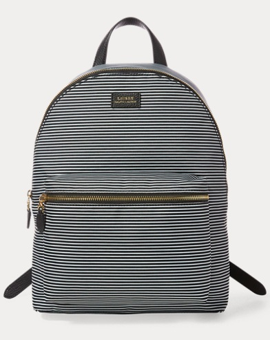 Striped Canvas Rucksack