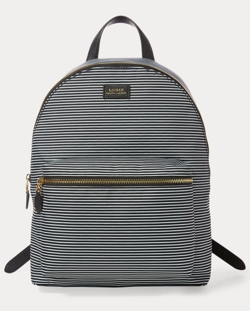 b03900583 Striped Canvas Backpack | Ralph Lauren DE