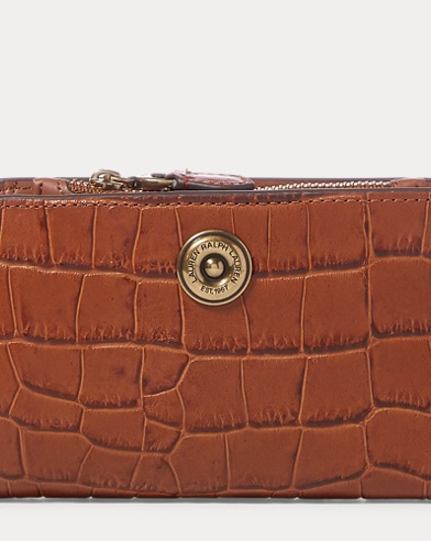 Crocodile-Embossed Wallet
