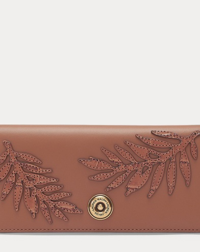 Palm Leaf Leather Wallet