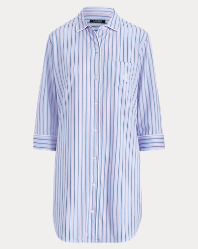 Striped Jersey Sleep Shirt