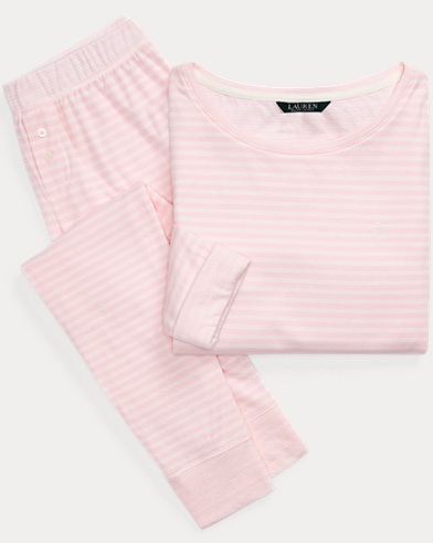 Striped Fitted Sleep Set
