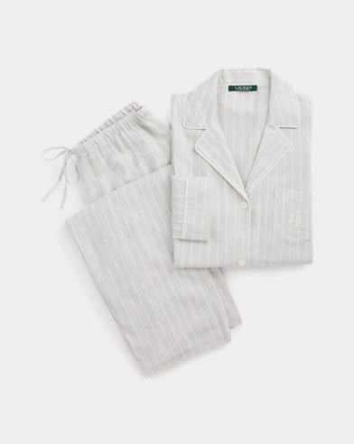 Striped Twill Sleep Set