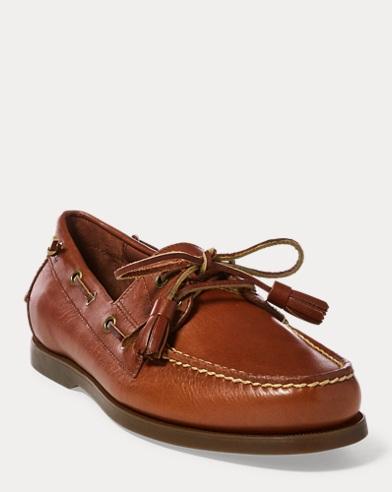 Chaussures bateau Merton en cuir