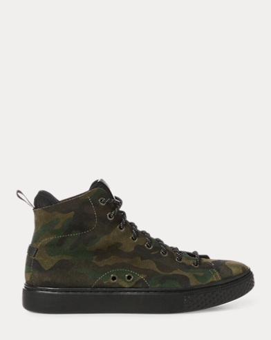 Sneaker Dleaney in camoscio