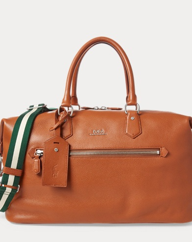 Pebbled Leather Duffle