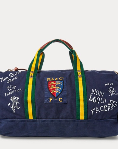 Crested Canvas Duffel