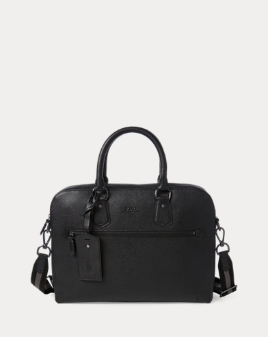 9f3d40196b Pebbled Leather Briefcase