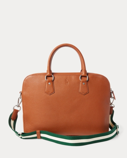Polo Ralph Lauren Pebbled Leather Briefcase 2