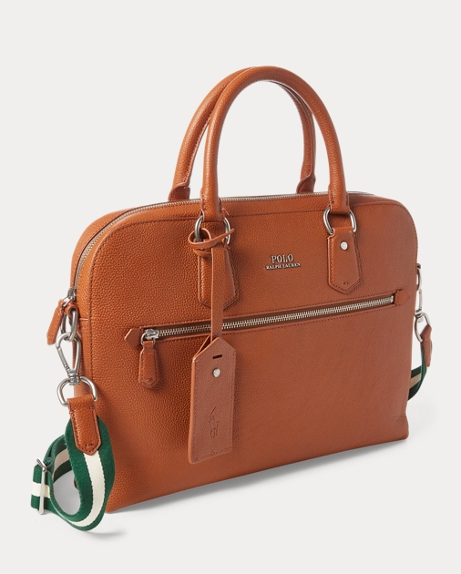 Polo Ralph Lauren Pebbled Leather Briefcase 3
