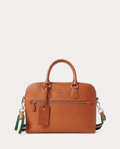Polo Ralph Lauren Pebbled Leather Briefcase 1