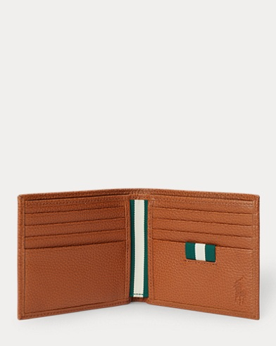 3b1062dc1f Pebbled Leather Billfold. Polo Ralph Lauren