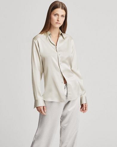 Bacall Satin Shirt