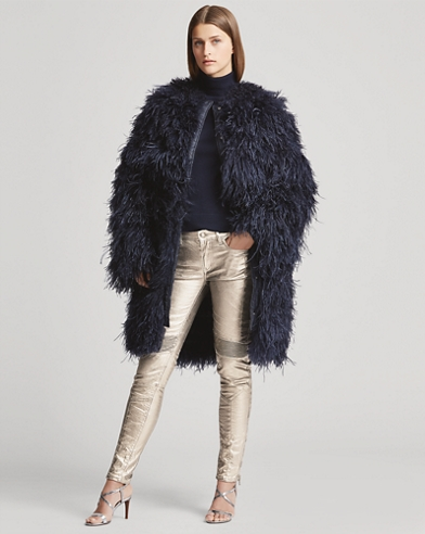 Veronica Ostrich-Feather Coat