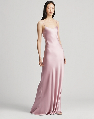 Evelyn Satin Gown