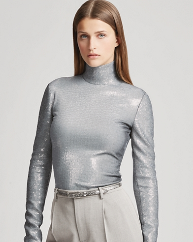 Rosalia Sequined Turtleneck