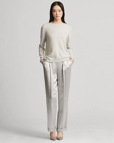 Pantaloni Sibyl in charmeuse