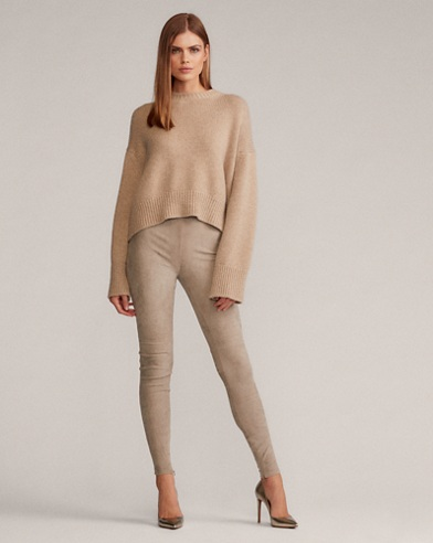 Eleanora Stretch Suede Pant