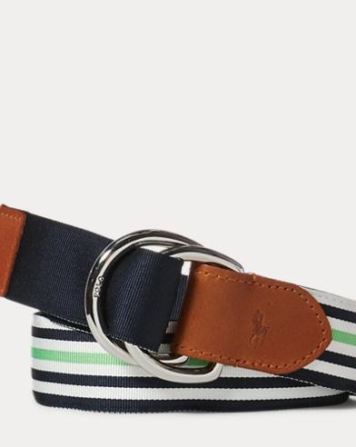 Striped Grosgrain Belt