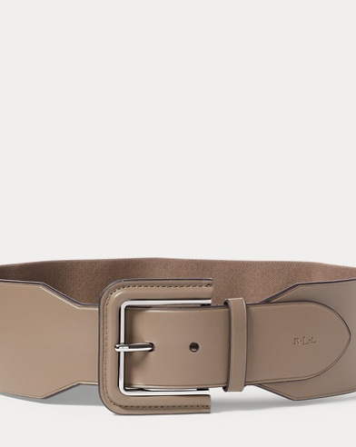 Stretch Faux-Leather Belt