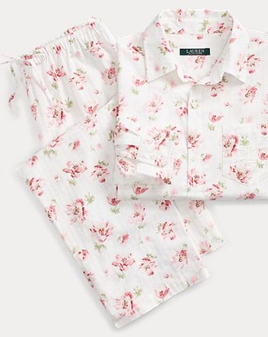 Floral Dobby Pajama Set