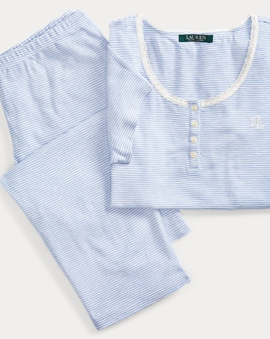 Striped Cotton Pajama Set