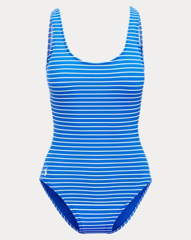 Polo Ralph Lauren. Striped Lace-Up Swimsuit. $114.00 $64.99. Striped  Lace-Up-Back Swimsuit
