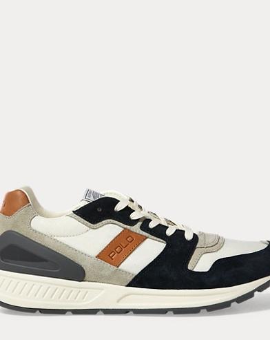 Train 100 Suede-Mesh Sneaker