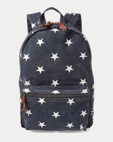 Polo Ralph Lauren. Military Tiger Canvas Tote. $65.00. Star-Spangled  Backpack