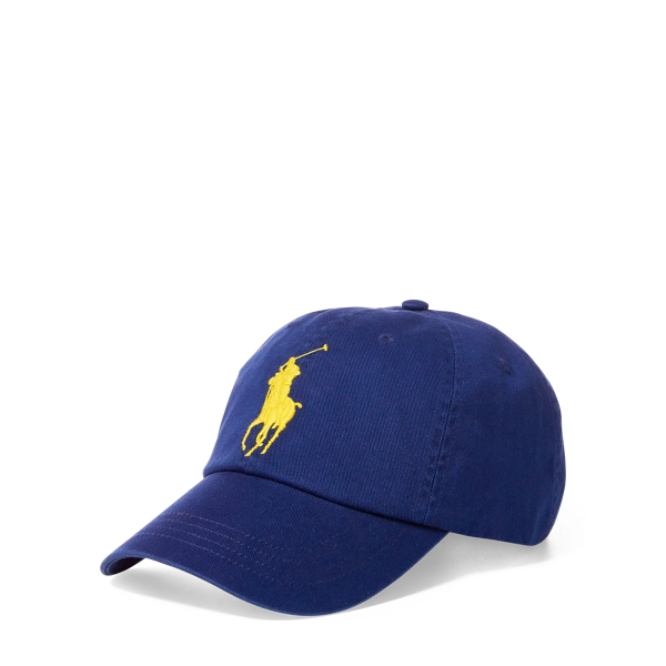Ralph Lauren Cotton Chino Baseball Cap Fall Royal One Size