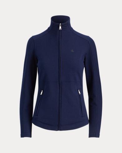 Cotton-Blend Mockneck Jacket