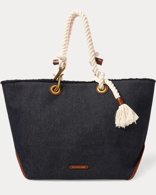 Polo Ralph Lauren Braided-Rope Canvas Tote 1 6327ed7fdd6af