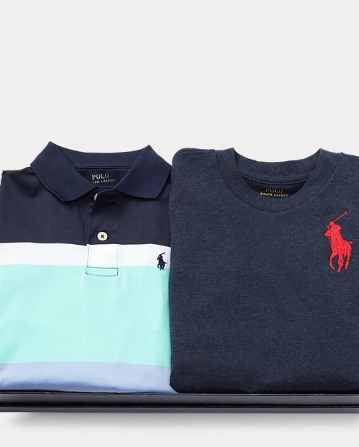 Size 4//4T Ralph Lauren Boys Twill Shirt Blue Multi