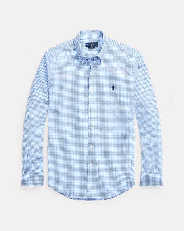 Slim Fit Checked Poplin Shirt