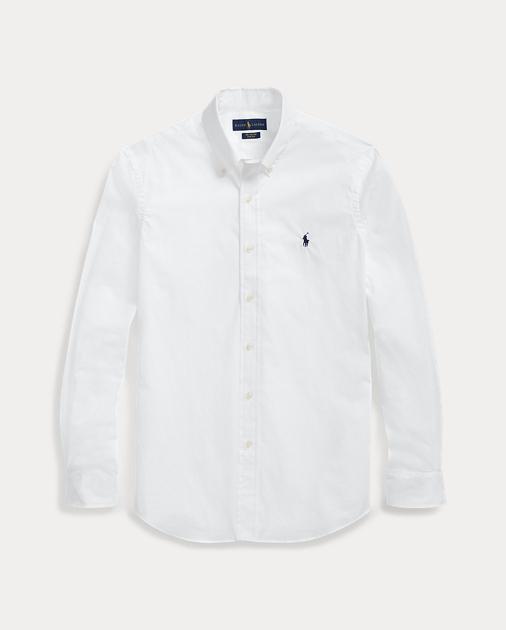 closer at best website genuine shoes Slim Fit Poplin Shirt